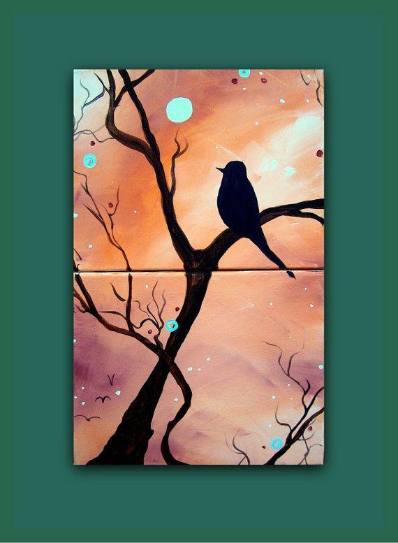 Original Abstract Contemporary Modern Bird Art