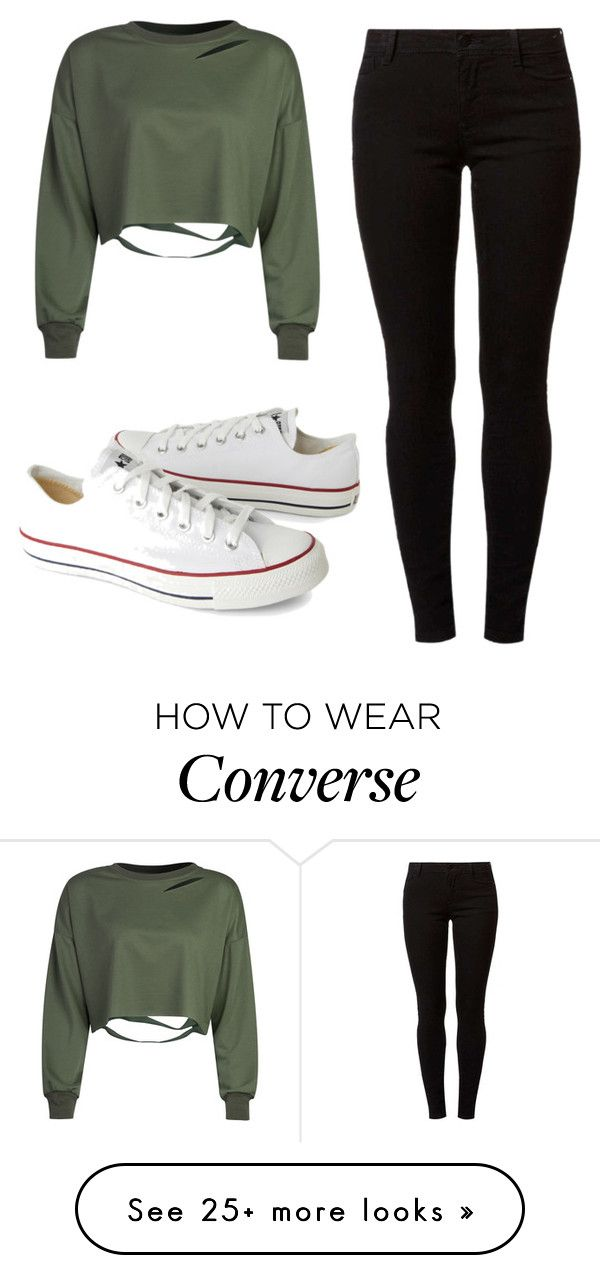 """""""Untitled #195"""" by lior-baruch on Polyvore featuring WithChic, Dorothy Perkins and Converse"""
