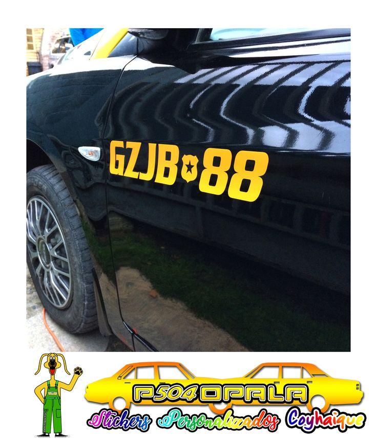 Sticker Placa Patente para taxi básico de Coyhaique