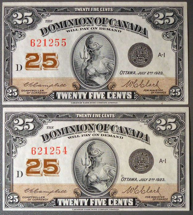 canadian currency | ... 1923 in paper money paper money canadian paper money canadian 25 cents