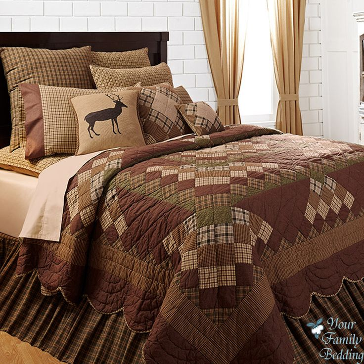 Country+Cabin+Patchwork+Twin+Queen+Cal+King+Size+