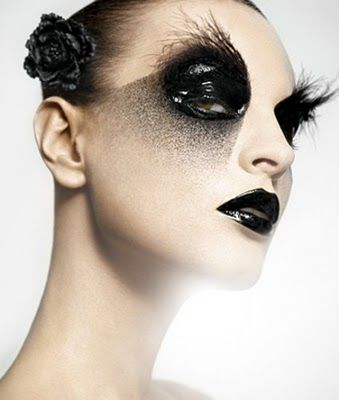 Gothic style makeup
