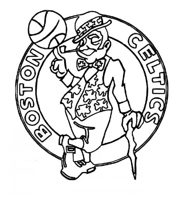 Basketball Boston Celtics Logo Coloring Page Coloring Pages