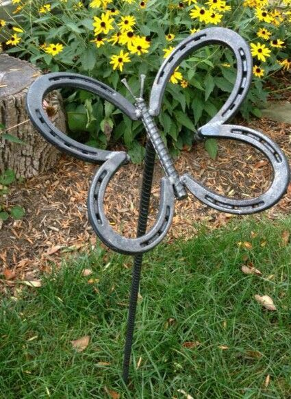 10 things you can make with horseshoes butterfly horse for Things you can make with horseshoes