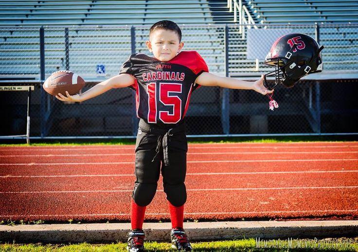 Sports Photography | Children Photography | Little League Football | Uniform | Football Field | Cardinals | RGV Photographer