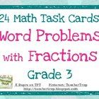 New product ! Fractions Word Problem Task Cards! Great review and practice!