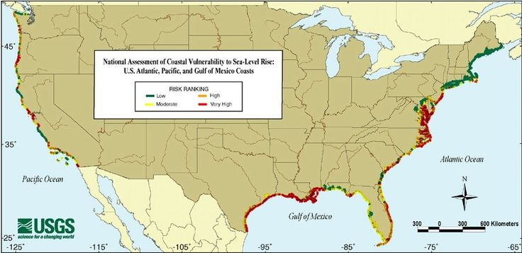 National Assessment of Coastal Vulnerability to Sea Level Rise