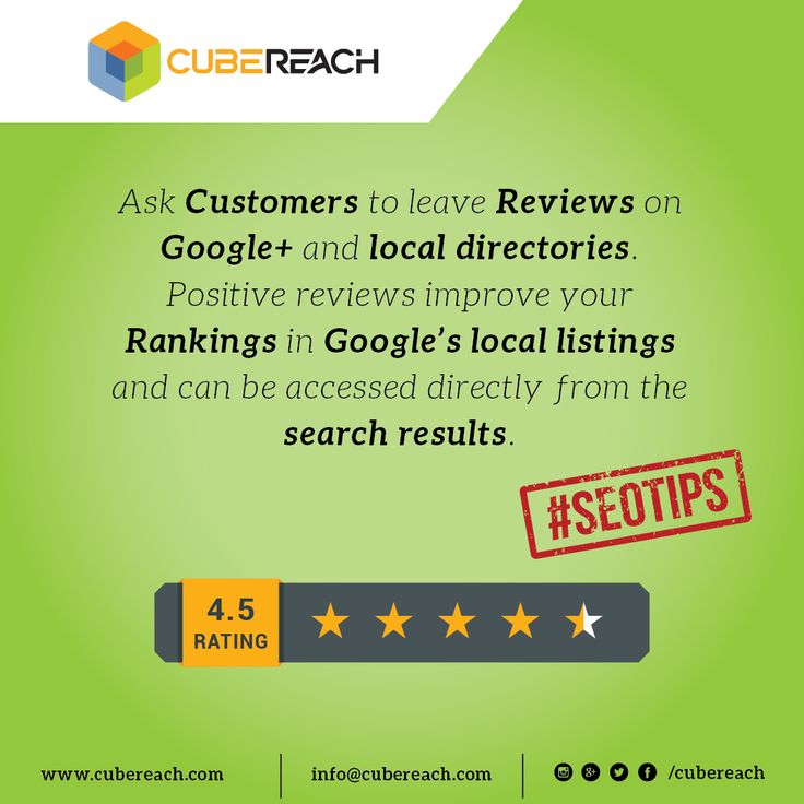 Google's local listings... #richsnippets #schema #strucutreddata #googlereviews #googlerating #localbusiness #localsearch #microdata #localdirectories #businesslisting cubereach.com