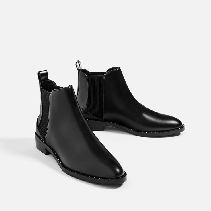 Image 1 of STUDDED DETAIL FLAT ANKLE BOOTS from Zara