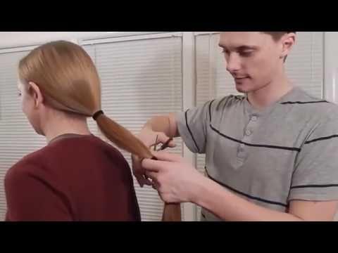 Haircut Long to Short   Easy Haircut at Home   Haircut yourself women