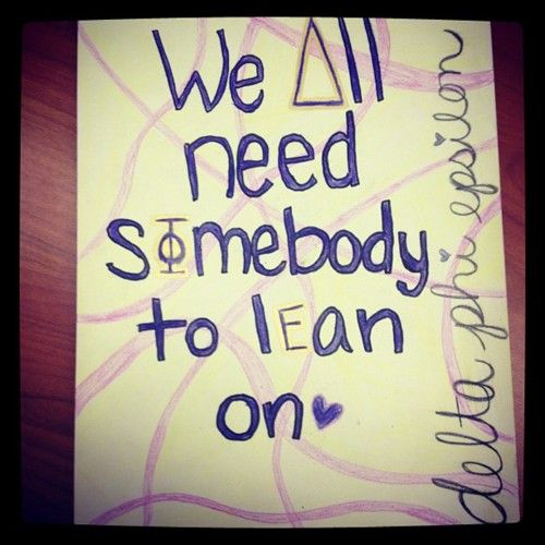 we All need Somebody To lean on <3 AST