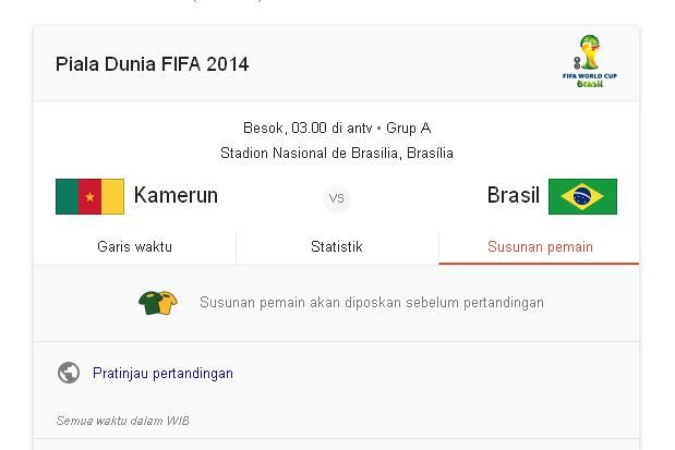 Hasil Prediksi Kamerun vs Brazil 24 Juni 2014 Piala Dunia | Hasil Prediksi Bola - Jadwal Bola Hari ini | Bolavs.com