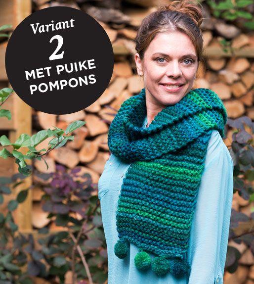 Compleet #breipakket voor een warme, hippe sjaal of col. Kies uit 2 kleuren en thuis uit een van de 3 modellen. In mooie cadeauverpakking. Simpel, bij pieceofmake.nl.  #breien #DIY #cadeau #handwerken
