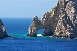 Cabo San Lucas, Mexico. This is where the Pacific Ocean meets the Sea of Cortez