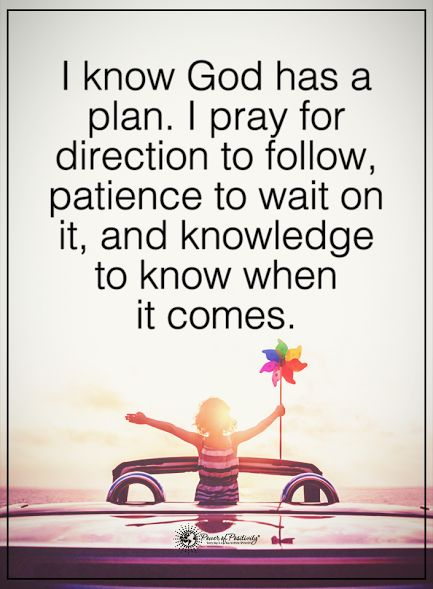 I know God has a plan. I pray for direction to follow, patience to wait on it, and knowledge to know when it comes.  #powerofpositivity #positivewords  #positivethinking #inspirationalquote #motivationalquotes #quotes #life #love #god #pray #knowledge #patience #direction