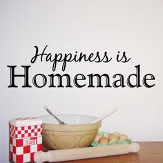 Decals For Kitchen | Happiness Is Homemade   Kitchen Wall Sticker   WA287X Part 61