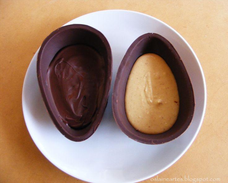Ovos de Páscoa com recheio de Amendoim