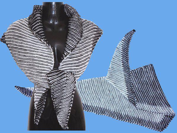 Strickanleitung Zweifarbenspiel Filou, schmales Dreieckstuch