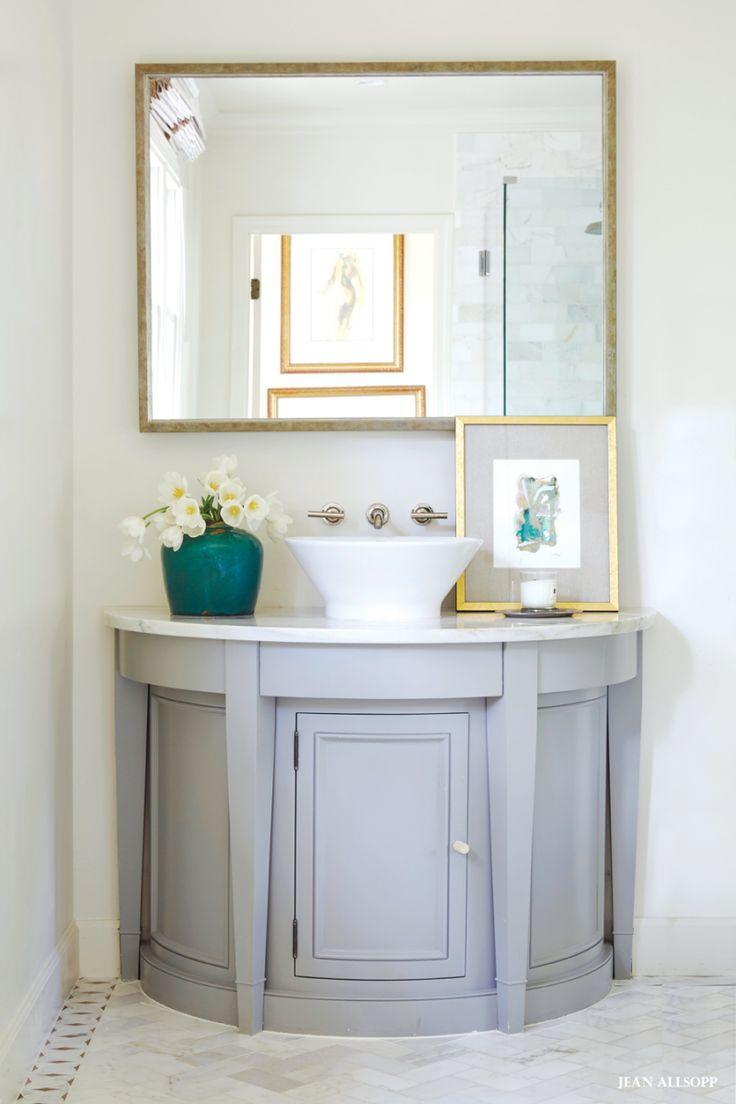 Charming Demilune Bathroom Vanity.