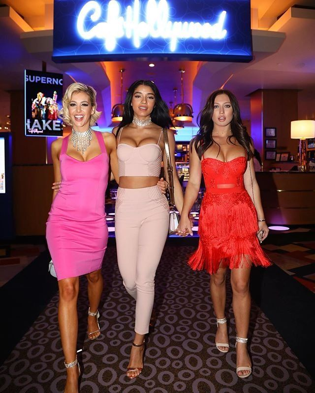 0c06e478e6 Bri Teresi, Yovanna Ventura and Stefanie Knight out in Las Vegas wearing  Marciano #MARCIANO