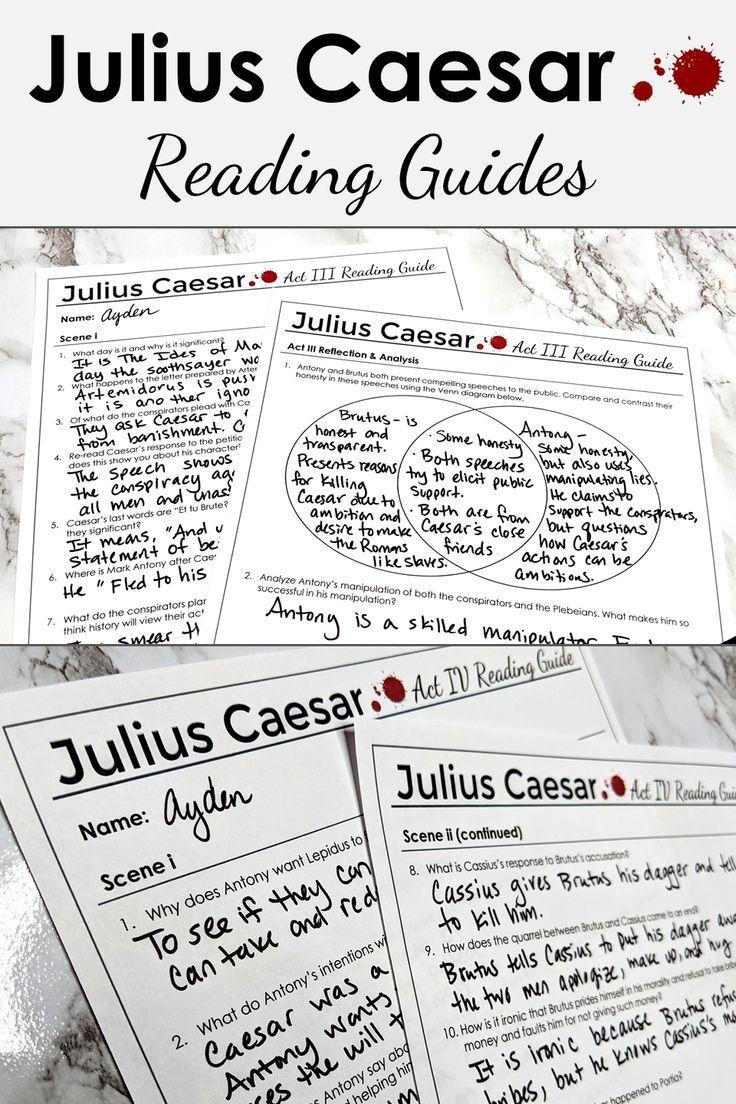 Julius Caesar Reading Guides And Teaching Tools In 2020 High School Literature High School Lesson Plans Teaching