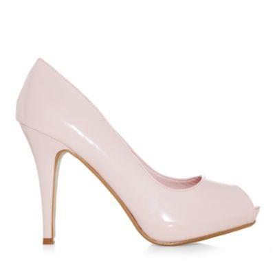 Add a pop of colour to simple evening looks with these essential powder pink court shoes. £19.99.