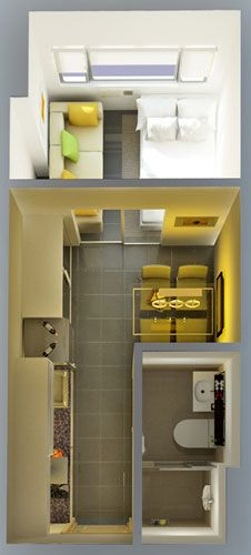 Berkeley Residences - 1-Bedroom Unit Floor Plan #condoForSale #realEstate #manilacondo www.mymanilacondo.com/