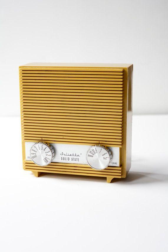 #RadioGardaFm 1950's Radio - PomegranateVintage #Vintage #Radio #Music #Art #Love #Passion #Color #Gold