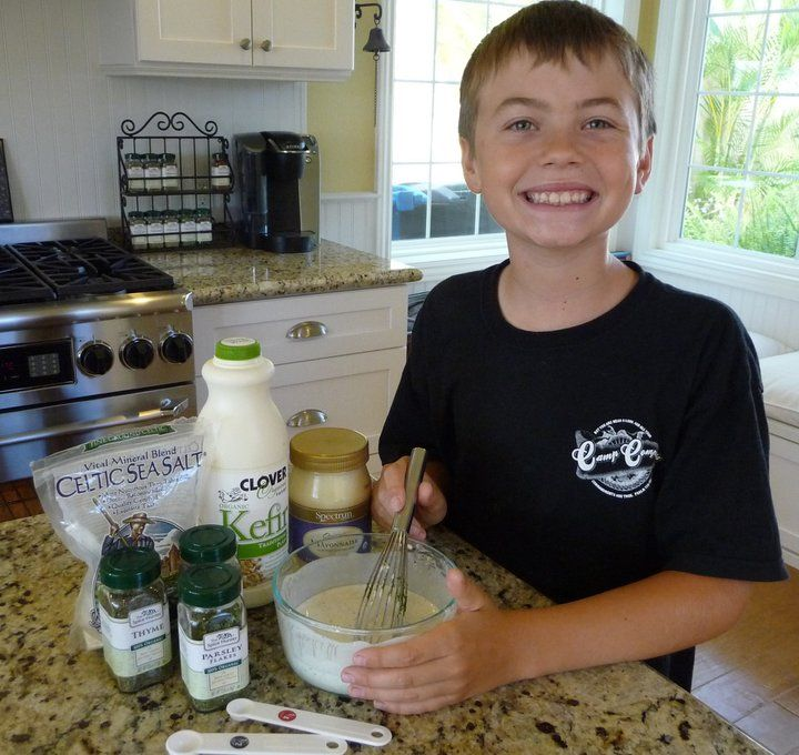 "Kids can create some of the best recipes! Like Cavan's famous ""Healthy Valley"" ranch dressing! Yum! http://thenourishinghome.com/2012/04/healthy-valley-ranch-dressing-gf/"
