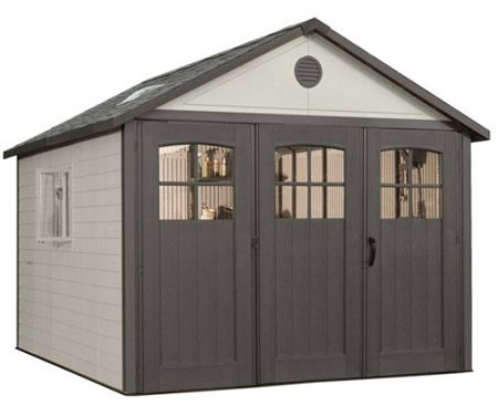 lifetime 11x11 plastic storage shed w 9ft wide doors - Garden Sheds 3 Feet Wide