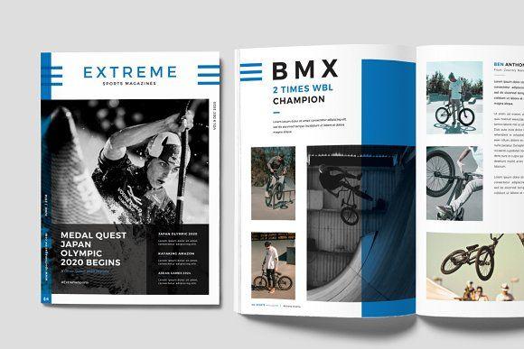 Sports Magazine By Rubirubiko On Creativemarket Sports