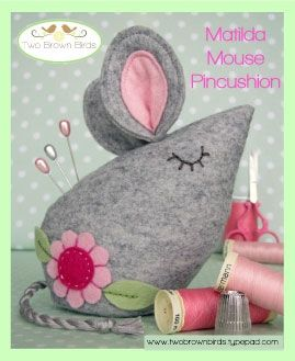 Matilda Mouse Pincushion Pattern