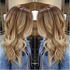100% Brazilian Real Human Hair Wigs Wavy Ombre Blonde Lace Front/Full Lace Wigs