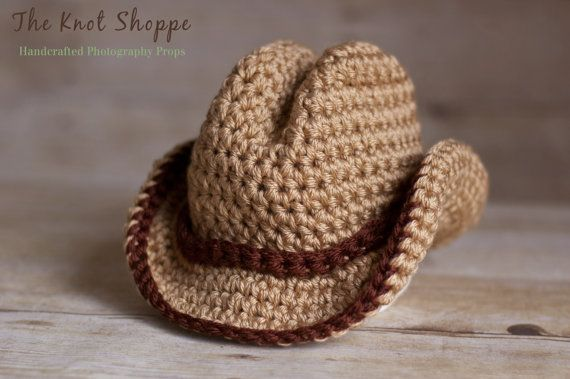Gallery For > Crochet Baby Cowboy Hat Pattern