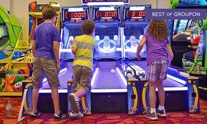 Groupon - Arcade Package for 1, 2, 4, or 6 with 50, 150, 350, or 500 Tokens at Niagara Falls Fun Zone (Up to 74% Off)  in Niagara Falls. Groupon deal price: C$20