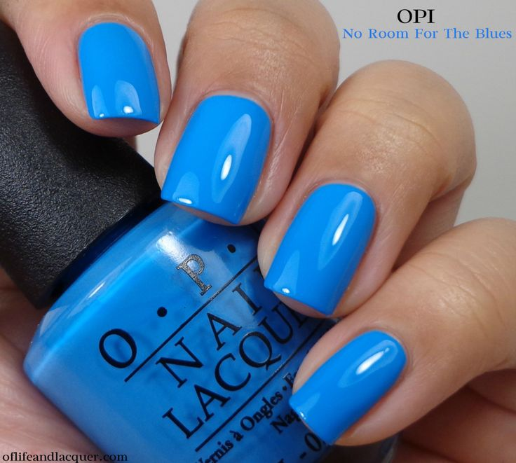 This blue, it's captivating! I need it!! | OPI No Room For The Blues