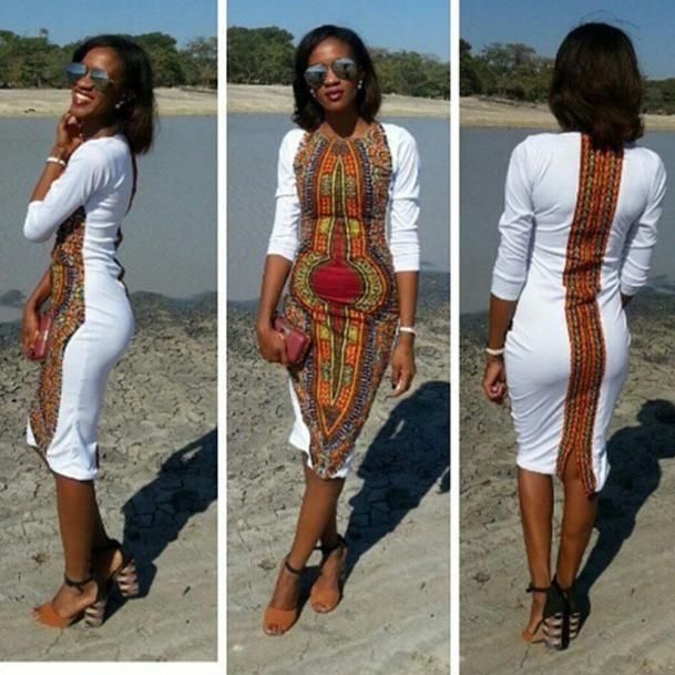 Fashion Women Summer Bodycon Casual O-Neck Traditional African Print Party Dress