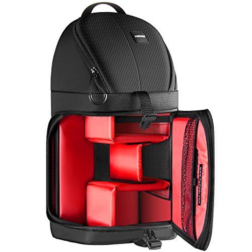 Neewer+Professional+Camera+Storage+Sling+Bag+Waterproof+Shockproof+Tearproof+Partition+Protection+Case+for+Canon+Nikon+Sony+Pentax+Olympus+Fujifilm+Panasonic+DSLRs+and+Mirrorless+Cameras(Red+Interior)