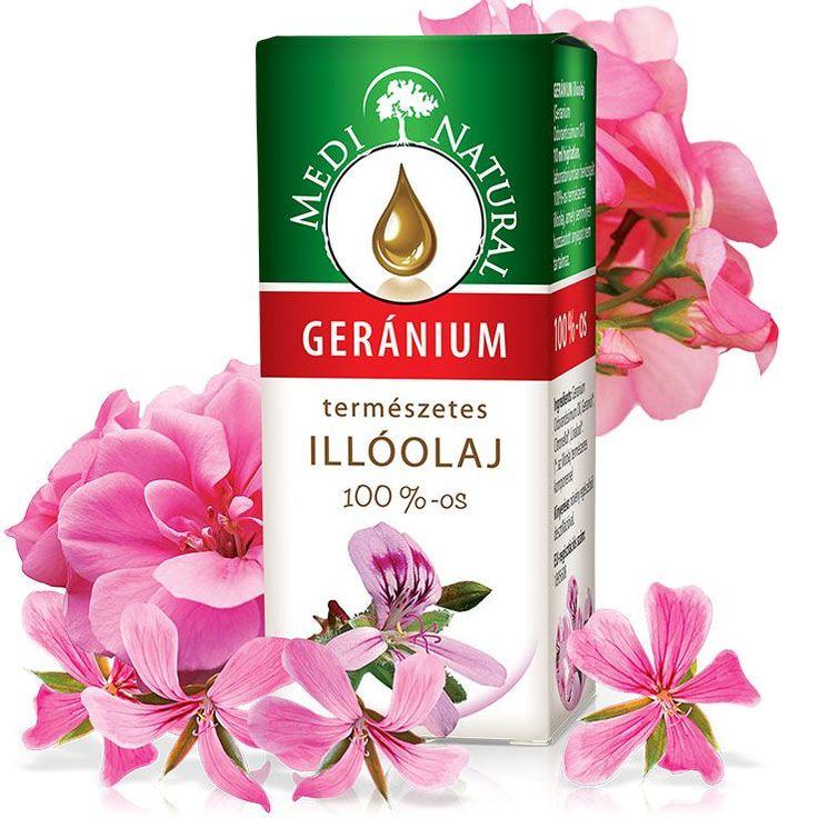 GERÁNIUM ILLÓOLAJ (Pelargonium odorantissimum)