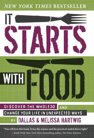 It Starts with Food: Discover the Whole30 and Change Your Life in Unexpected Ways. I was actually already eating this way before I read this book - because I had eliminated foods that bothered me. But reading it helped me understand why the foods bothered me, and that it isn't just me! I recommend this book to everyone.