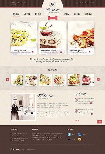 Template 39353 - European Restaurant Joomla Website Template With Lightbox Image Gallery