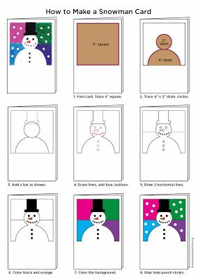 Art Projects for Kids: Make an Abstract Snowman Card