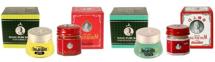 siang pure koortsbalm...diverse varianten...in Thailand gekocht...werkt heel goed. Van hoofdpijn tot insectenbeten en griep