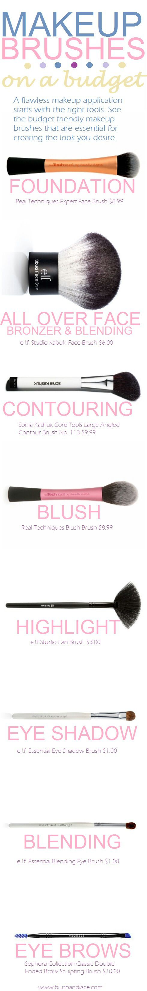 Makeup brushes for your whole face for under $50 #realtechniques @Keri Whaitiri Whaitiri Whaitiri Whaitiri Joan