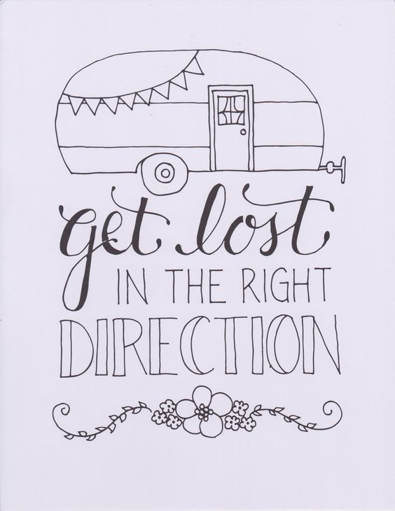 Get Lost in the Right Direction. Cute doodle illustration.