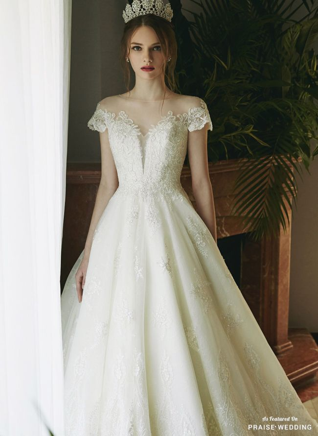 A Classic Wedding Gown From Abel By K Featuring Delicate Lace