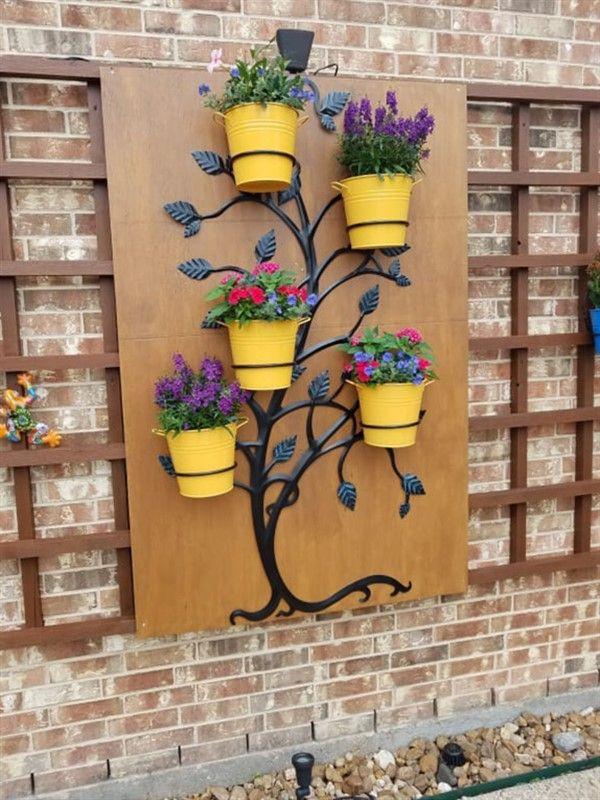 Trellis Stands With Pot Holders For Space Saving Unique Balcony Garden Decoration And Easy Diy Ideas Succulent Planter Diy Diy Trellis Pot Trellis