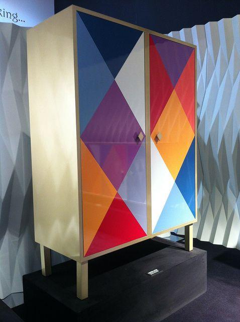 #camiciacorta cabinet, by @Moschino for #altreforme, #arlecchino collection at Salone del Mobile 2012 #interior #home #decor #homedecor #furniture #aluminium