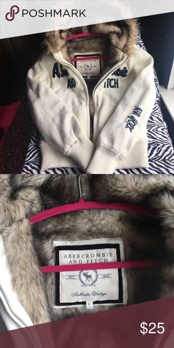 Never Used Abercrombie Hoodie Beautiful Faux Fur Vintage Hoodies Fur Hoodie Hoodies