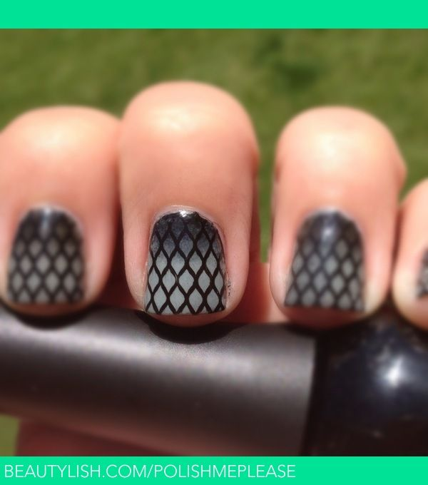 Sexy, Smoky Fishnet Nails | Nicole M.'s (PolishMePlease) Photo | Beautylish